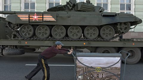 Репетиции Парада Победы в Санкт-Петербурге перенесли на поздний вечер