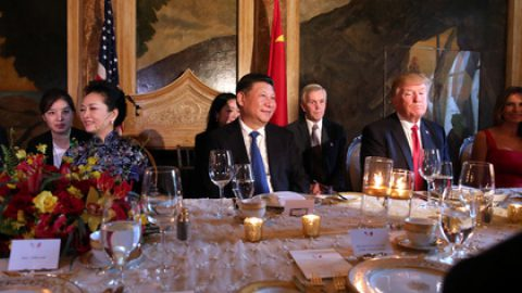 Стало известно меню устроенного Трампом в честь Си Цзиньпина ужина