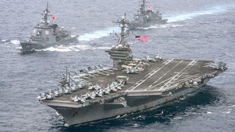 Авианосец «Карл Винсон» вошел в Японское море