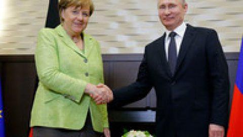 Меркель прибыла на встречу с Путиным в  Сочи