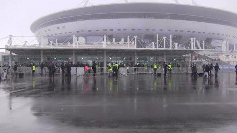 Протечки кровли стадиона «Санкт-Петербург» устранены