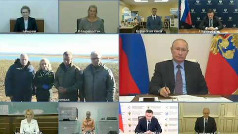 Зиничев и Усс доложили Путину о локализации ЧП под Норильском