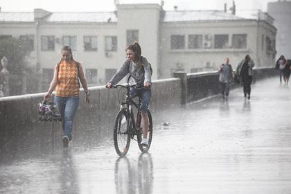 Москву накроют дожди и град